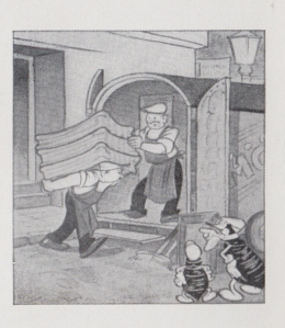 Bedbugs hatch a scheme to stow away in a moving van in a cartoon from the 1930s. From Hugo Hartnack, 202 Common Household Pests of North America. Chicago: Hartnack Publishing, 1939