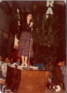 Speaking in Kaohsiung on the night of the Kaohsiung Incident, December 10, 1979