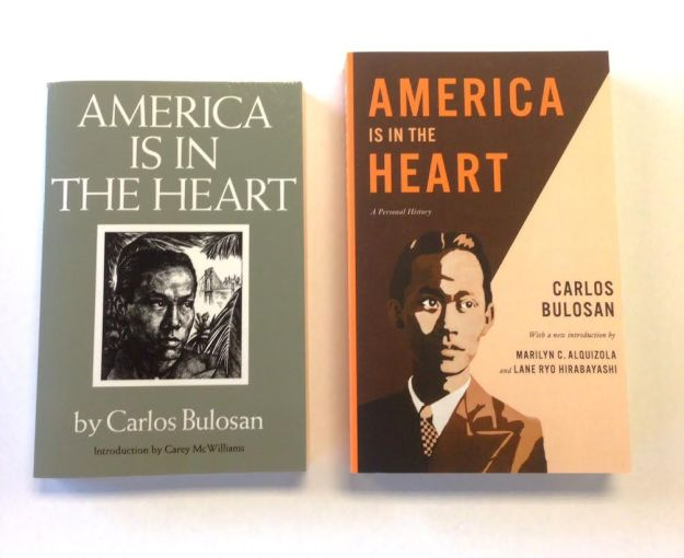 "The 1973 edition of ""America Is in the Heart"" (at left) and the 2014 edition (at right)."