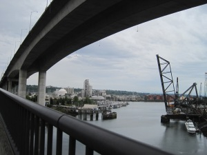 The mouth of the Duwamish Waterway from the low bridge