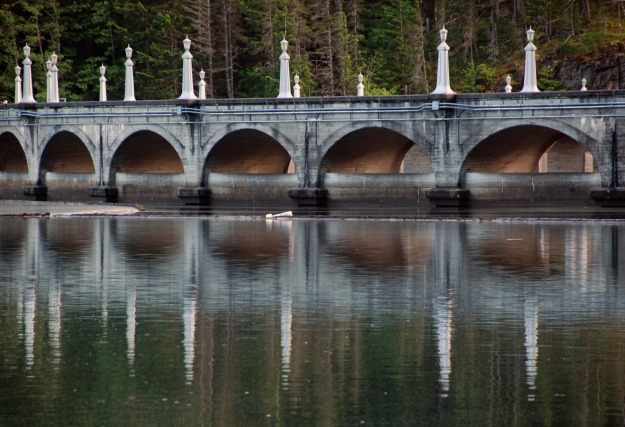 Art deco features on the Diablo Dam.