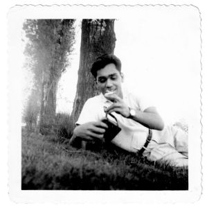 Raj Joshi as a graduate student at the University of Washington campus, Seattle, 1955