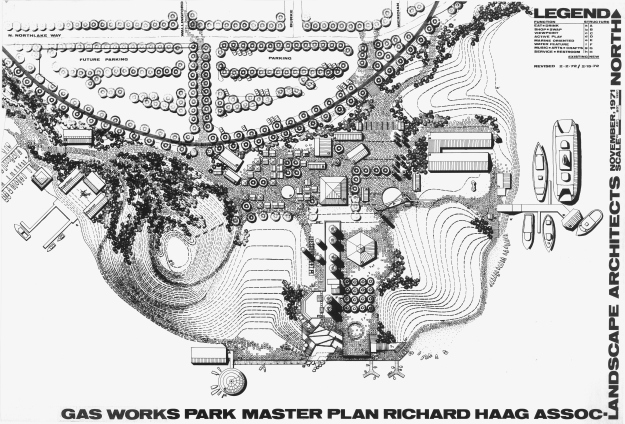 Gas Works Park master plan, 1971.