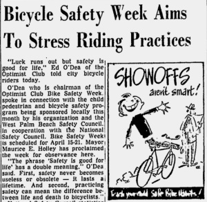April 15, 1956 story from the Palm Beach 'Post.'