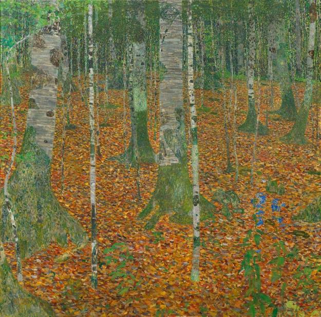 Gustav Klimt, Birch Forest, 1903, Oil on canvas, 42 1/4 x 42 1/4 inches, Paul G. Allen Family Collection