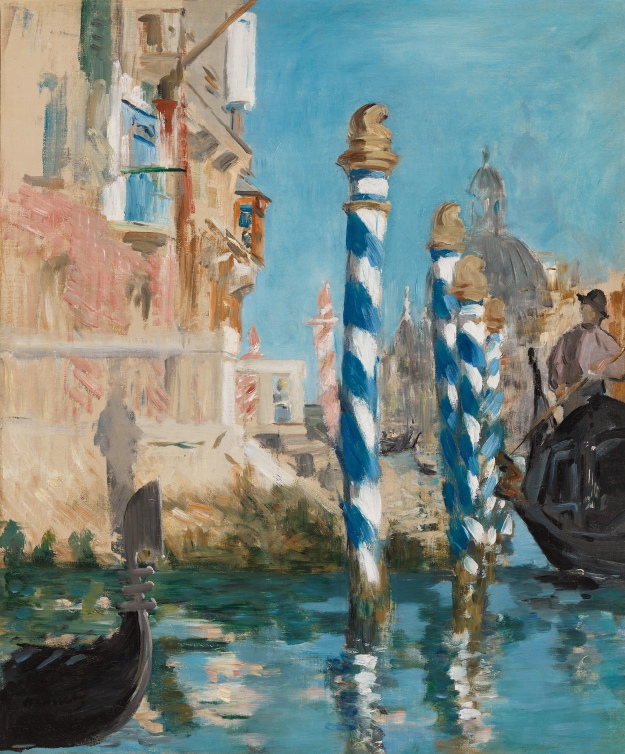 Edouard Manet, View in Venice-The Grand Canal, 1874, Oil on canvas, 22 1/2 x 18 3/4 inches, Paul G. Allen Family Collection