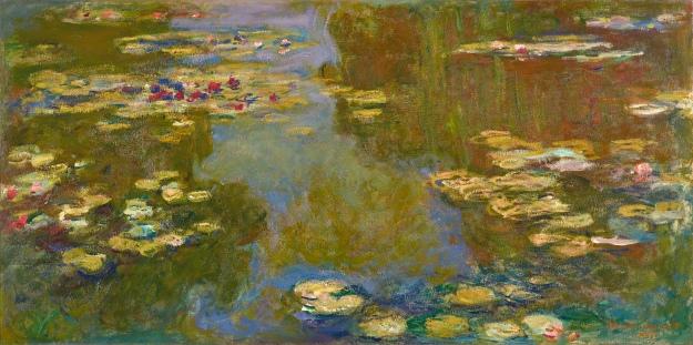 Claude Monet, Le bassin aux nymphéas, 1919, Oil on canvas, 39 1/2 x 79 inches, Paul G. Allen Family Collection