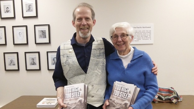 Author David Williams with his mom and fellow author, Jacqueline B. Williams (Photo via AKCHO)