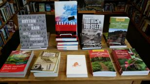 """""""Too High and Too Steep"""" appears prominently at Third Place Books."""