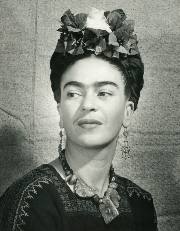 Bernard Silberstein Frida with flowers in her hair c1940 gelatin silver print 35.6 x 27.9 cm Courtesy of Throckmorton Fine Art, Inc © Bernard Silberstein ***This image may only be used in conjunction with editorial coverage of Frida Kahlo and Diego Rivera: from the Jacques and Natasha Gelman Collection 25 Jun-9 Oct 2016, at the Art Gallery of New South Wales. This image may not be cropped or overwritten. Prior approval in writing required for use as a cover. Caption details must accompany reproduction of the image. *** Media contact: Hannah.McKissock-Davis@ag.nsw.gov.au *** Local Caption *** ***This image may only be used in conjunction with editorial coverage of Frida Kahlo and Diego Rivera: from the Jacques and Natasha Gelman Collection 25 Jun-9 Oct 2016, at the Art Gallery of New South Wales. This image may not be cropped or overwritten. Prior approval in writing required for use as a cover. Caption details must accompany reproduction of the image. *** Media contact: Hannah.McKissock-Davis@ag.nsw.gov.au