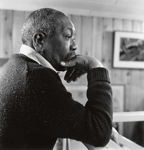 Jacob Lawrence in his Seattle studio, 1984. Photo by Mary Randlett.